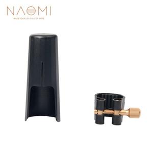 NAOMI Cuero Ligature Fastener W / tapa de plástico para soprano saxofón boquilla soprano saxofón madera viento piezas accesorios