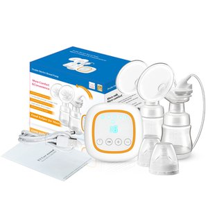 Portable Double Electric Breast Pump 4 Functions Smart Memory Comfort Breastfeeding 2 Bottles 14 Suction Sensitive Touch Panel