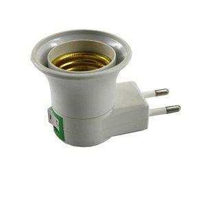 E27 Sockel E27 LED-Licht Flanschstecker Um Eu Us Typ-Stecker-Adapter-Konverter für Birnen-Lampen-Halter mit Ein / Aus-Taste Schalter 1pc