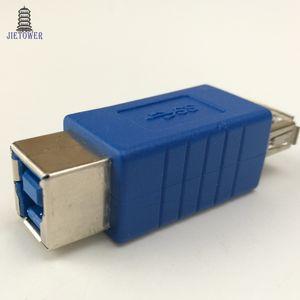 300pcs lot Super speed USB 3.0 Type A Female to 3.0 Type B Female Printer Converter Adapter