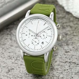 Homens Quartz Relógios Nova Chegada Todos Subdials Trabalho AR Pulseira De Borracha Relógio Esportivo de Moda de Luxo Desgaste Ocasional relógio masculino montres pour hommes