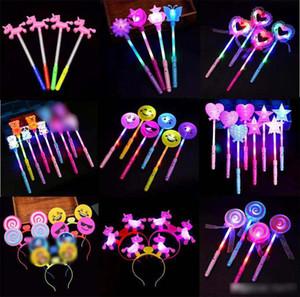 coloré bâtons clignotants LED fournitures concert bâton porc lueur enfants bâton princesse fée étoiles lumineuses jouets