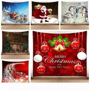 150 * 130cm Noel Goblen Noel ağacı Kardan Adam Duvar Halı 3D Dijital Baskı Duvar Asma Havlu Battaniye Ev Dekoratif Halılar GGA2754