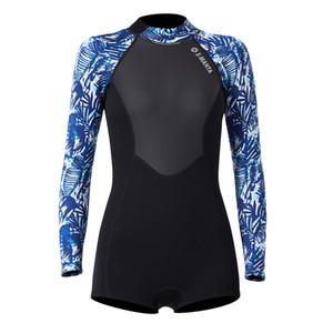 1,5 mm Neoprene Shorty Surfing Wetsuit para mujeres - Back Zip UV Protección solar Guardia Rash - Seleccionar tamaños