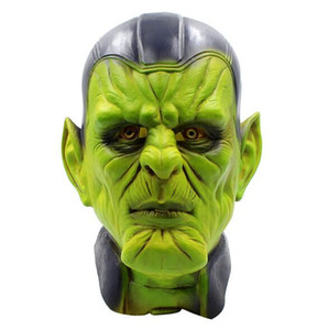 NUEVOS 2019 máscaras del partido de Halloween Máscaras de látex de la cara llena de adultos difusa wei película sorpresa cabeza capitán máscara cosplay Carol Danvers tapas de cosplay