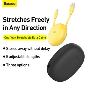 Baseus Portable USB C Cable Retractable USB Type C Cable for Samsung S30 Huawei P30 P20 Skin Friendly Silicone USB Type C Cable