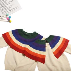 Maglione Ragazze 2019 Primavera Nuovi prodotti INS Bambino Neonata Arcobaleno puro cotone Maglione bambini Maglione per conto