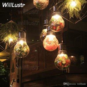 Willlustr мега лампа Подвеска лампа зеленое растение цветок декоративное стекло столовая кухня острова ресторан бар кафе Suspension Light