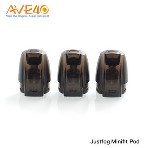 Original Justfog Minifit Pod Minifit Empty Refill Cartridge 1.5ml Capacity 3 Pack with Organic Cotton Coil