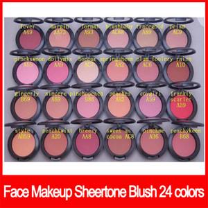 Face famoso Maquiagem sheertone corar 24 cores corar paleta 6g não Escova do pó do Shimmer Blush frete grátis