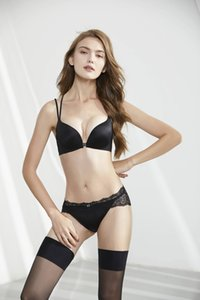 New strapless non-slip female underwear small chest thickened front three rows of buckles gathered invisible push up bra