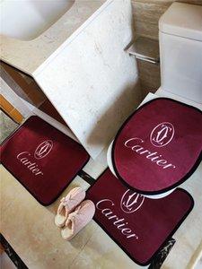 Serie de la manera Cubiertas asiento del inodoro fija los juegos de la puerta interior Mats Mats T Eco Friendly baño Accesorio caliente del envío libre