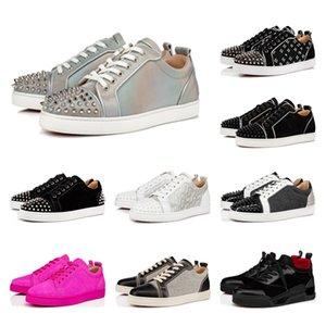 2020 Qualitäts-populäre beiläufige Schuh-rote untere Schuh Marke Nietzapfen flache Schuhe ACE Fashion Sneaker Party Paar Lederstiefel