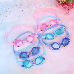 Tauchen Surfen Goggles Strandausrüstung Wassersport Jungen-Mädchen-Optical Reduce Glare Brille Relefree Brille Anti-Fog Schwimmbrille Kinder F