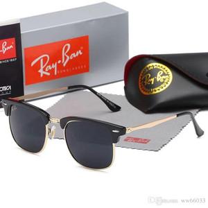 nnngghet 2019 Gafas de sol de piloto clásicas de alta calidad Marca de diseñador Hombres Mujeres Gafas de sol Gafas Lentes de vidrio de metal1885