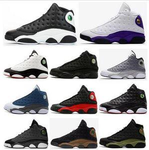 الجديد 13 13S عكسي ولديك لعبة ليكرز ينافس القطة السوداء من الرجال والنساء أحذية كرة السلة جو رمادي صوان ولدت الزيتون أحذية رياضية مع صندوق