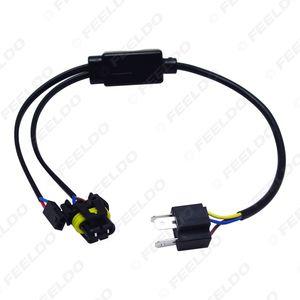 LEEWA оптовая упрощенный H4 / 9003 / HB2 Привет / Lo Bi-Xenon HID лампы Реле жгут проводов контроллера # 4514