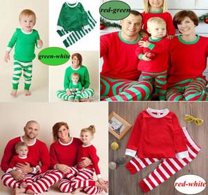 عيد الميلاد INS الاطفال الكبار الأسرة مطابقة عيد الميلاد الغزلان مخطط ملابس نوم ملابس نوم ملابس نوم bedgown 3colors الشحن قميص النوم sleepcoat اختيار مجانا
