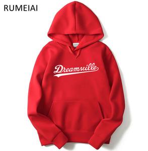 2019 남성 Dreamville J. 콜 스웨터 가을 봄 후드 후드 힙합 캐주얼 풀오버 의류 탑