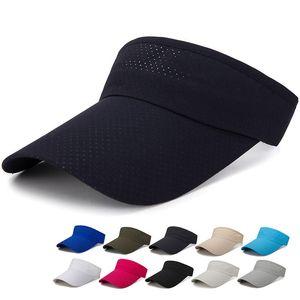 Summer Unisex Adjustable Sport Headband Sun Visor Hat Outdoor Tennis Cap Empty Head Golf Cap and Baseball Hat