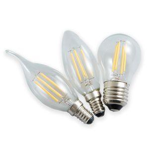 Super lampe en cristal domestique d'économie d'énergie lumière LED bougie ampoule blanche e14e27 de lumière chaude pointe queue de traction source lumineuse à bulles