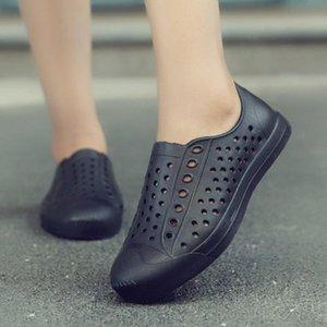 Легкая Мужская обувь тапочки EVA дышащие сандалии летние повседневные плоские сандалии выдалбливают вентиляционные ботинки