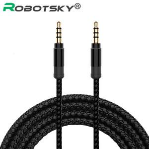 Robotsky jack da 3,5 mm Codice estensione audio del cavo di nylon della treccia 3,5 millimetri auto cavo AUS 1.5M auricolare per il telefono MP3 auto altoparlante auricolare