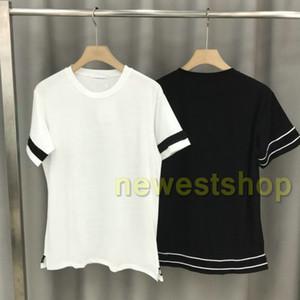 Sommer Luxus-Designer für Herrenmode Mode-T-Shirts T-Shirts der Männer Streifenhülse mit Buchstabendruck-T-Shirts der Qualitäts-beiläufige Oberseiten-T-Shirt