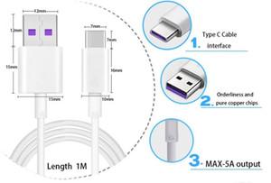 1 m de cable 5A Supercharge para Huawei cable USB tipo C Cable P20 Pro mate 10 Pro 3.1 Cables tipo C de carga rápida USB