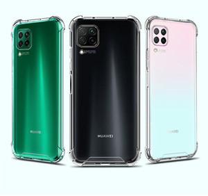 Şeffaf Darbeye Akrilik Hibrid Zırh Hard Case Arka Kapak Huawei P20 P30 P40 Pro Lite Mate20 Mate30 Pro Y9S Samsung Moto LG için