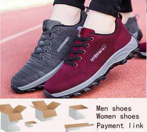pago extra para los zapatos de las mujeres calzados informales de los hombres zapatillas de deporte de honorarios DHL reflexivo, doble caja cordones de zapatos