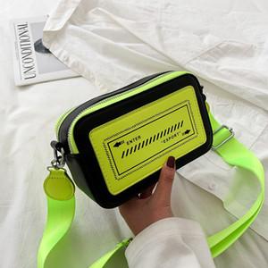 Verano y hombro verde de neón bolsa de mensajero Mujeres Orange embrague noche bolsas muchachas de la manera Crossbody Bolsa fluorescente