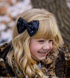 Hair band children embroidery sequins hairpin cute baby big bow hair accessories headdress