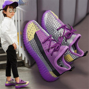 2020 Spring Autumn Kids Shoes Unisex Toddler Girls Boys Sneakers Mesh Breathable Fashion Casual Children Shoes Size 26-35