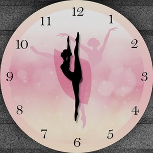 Girl Bedroom Decor Ballet Girl Princess Pink Wall Clock Baby Girl Dancing Wall Clock Ballerina Moving Leg Dancing Clock Watch