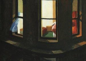Edward Hopper Night Window Affiche d'art vintage en soie, 24x36 pouces (60x90cm) 04