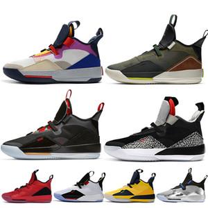 jordan Jumpman 33 33 s XXXIII erkek basketbol ayakkabı Travis Scott Koyu Gri CNY Görünür Yardımcı tasarımcı eğitmenler spor sneakers boyut 7-1213