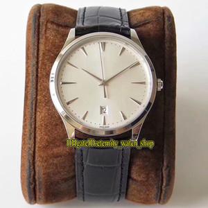 ZF Top versión Maestro 1288420 plateado Dial Cal.899 / 1 Q1288420 automático mecánico del reloj para hombre caja de acero Zafiro Relojes de cuero del diseñador