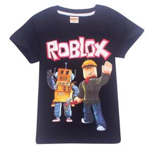 Das T-Shirt des Sommer-Karikatur-Jungen 2019 Deadpool kurzärmliges T-Shirt Roblox-Druck Kinder Fornite Kindermädchenoberteile bobo choses