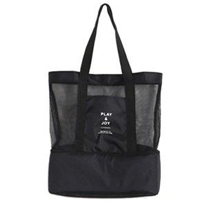 Nuovi sacchetti della spesa riutilizzabili Borse impermeabili pieghevoli Eco Picnic Lunch Net Bag Storaging Drink Large Capacity