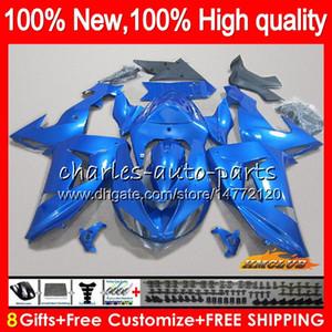 Pour le corps KAWASAKI chaud bleu brillant ZX 10 R ZX1000 ZX10R 06 07 Carrosserie 44HC.7 ZX1000 CC ZX10R 06 07 ZX 1000CC ZX 10R 2006 2007 Kit Carénage
