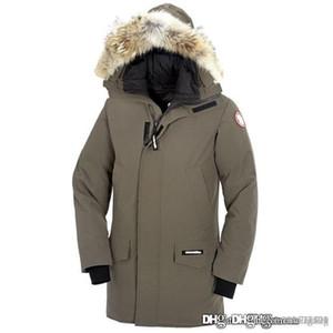 19ss Канада утка вниз куртка Открытый Толстый Mens дизайнера куртки Роскошные зимняя куртка с капюшоном Мех Теплый гусь вниз пальто размер S-2XL
