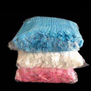 Tapas de 100pcs / lot polvo, desechables a prueba de una sola vez de elástico a prueba de polvo del casquillo del sombrero Suministros salón de belleza del hotel Limpieza ZZA1846