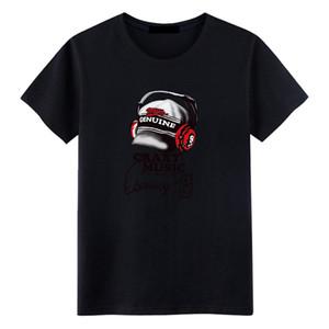 Brand Tee Men's Summer Short Sleeve T-Shrits Big Size Fashion Cotton T-shirt Men Fashion music Wear Casual Tee