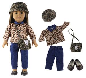 """Venta caliente! 1 juego de ocio hecho a mano vestido ropa traje Blusa + Jeans Princesa falda para 18 """"American Girl Doll"""
