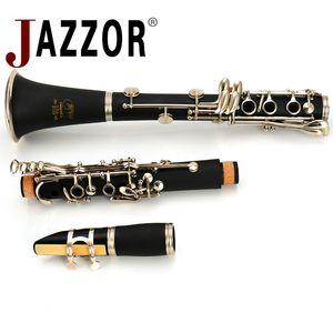 Meslek JAZZOR Klarnet JYCL-E100 B düz sert kauçuk Klarnet 17 tuşlu nikel kaplama, klarnet kamışları, ağızlık, kutu