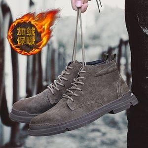 Hot Sale Autumn Heighten Winter Men's Boots Male Popular Khaki Ankle Warm Plush Snow Boots Men Outdoor Safety Work Botas Hombre