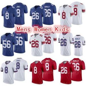 Dev8 Daniel Jones 26 Saquon Barkley Jersey Mens 10 Eli Manning 87 Shepard 56 Lawrence Taylor Jersey kadınlar gençlik