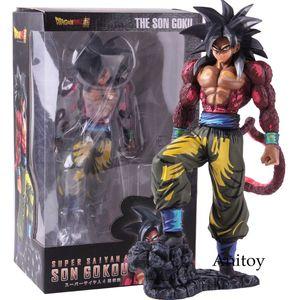 Dragon Ball Super Saiyan 4 Son Gokou Son Goku Manga Dimensions Version PVC Statue Figure Collectible Model Toy Y200703