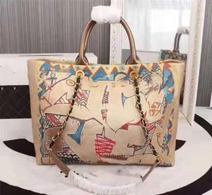 Designer famosi disegnano marchi famosi, borse da spiaggia di alta qualità e verniciate a spruzzo, tessuti ricamati, borse con una spalla